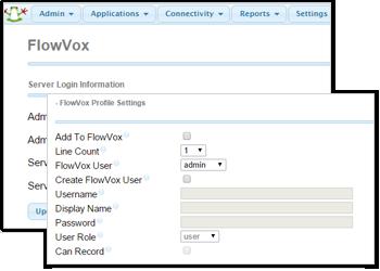 FlowVox FreePBX Admin Portal Snap-in